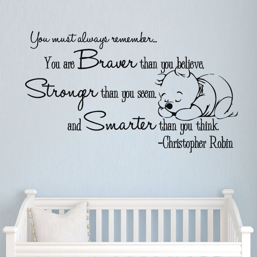 Winnie The Pooh Wall Quotes: Winnie The Pooh Vinyl Sticker Christopher Robin Wall