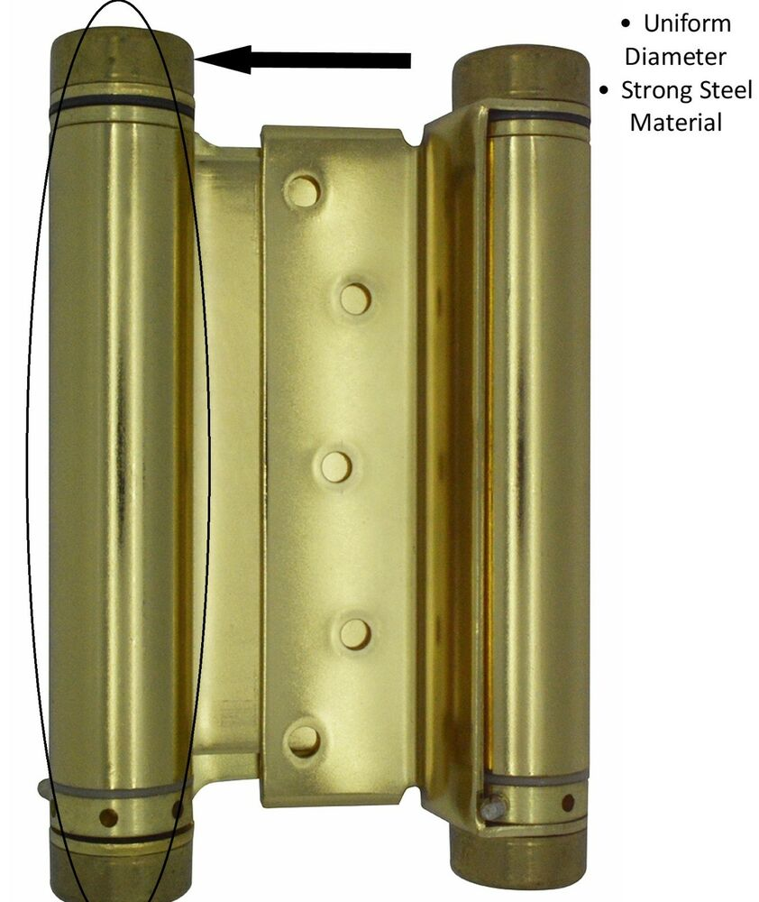Saloon Door Hinges : Quot polished brass double acting spring hinge cafe