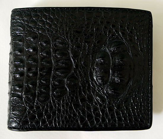 Genuine Head Crocodile Skin Leather Mens Wallet New Bifold