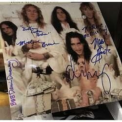 Kyпить Alice Cooper & band signed 12 x 12 color pic in person with lyrics на еВаy.соm