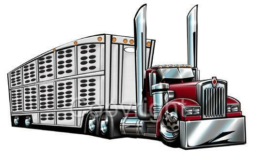 cattle trailer coloring pages - photo#9