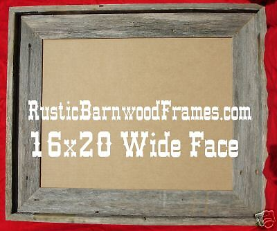 16x20 W Rustic Barnwood Barn Wood Photo Picture Frame Ebay