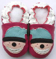 Freeship Littleoneshoes Soft Sole Leather Baby Shoes Infant ClownFuchsia 6-12M