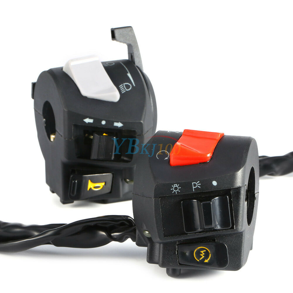 Light Controller For Motorcycles: 2x Universal 7/8'' Motorcycle Handlebar Horn Turn Signal