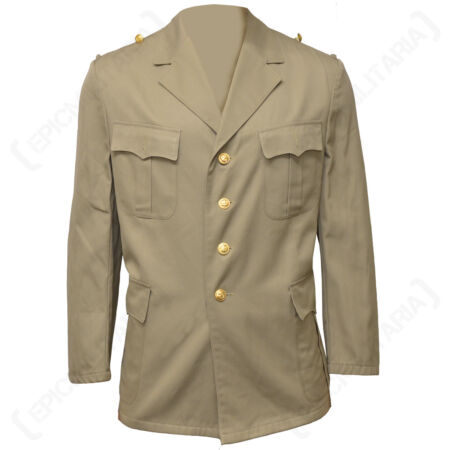 img-German Tropical Khaki Jacket - Army Military Naval Surplus Unissued Coat Jacket