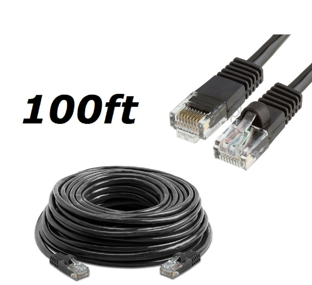 100 Ft Cat5 Rj45 Ethernet Lan Network Cable For Pc Xbox Ps