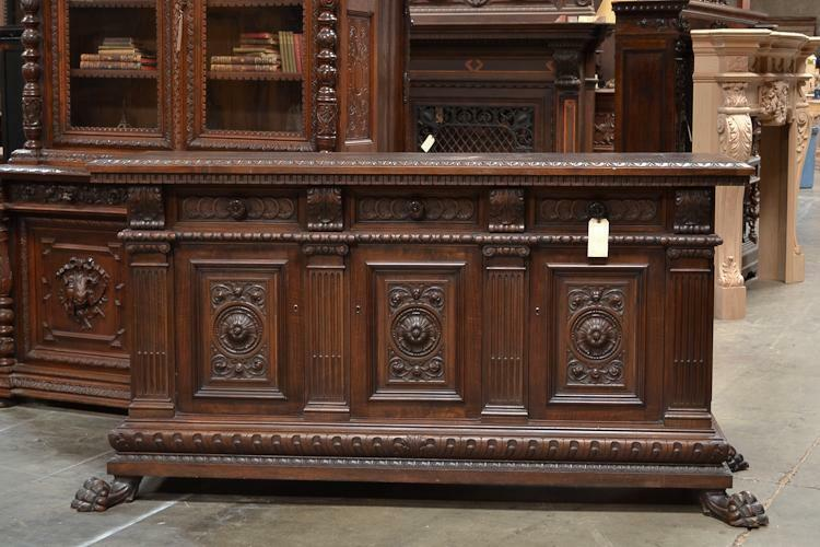 500331 Large Italian Renaissance Carved Sideboard Buffet Cabinet Console eBay