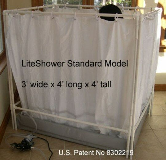 Portable Showers For Disabled People : Liteshower wheelchair accessible portable shower stall