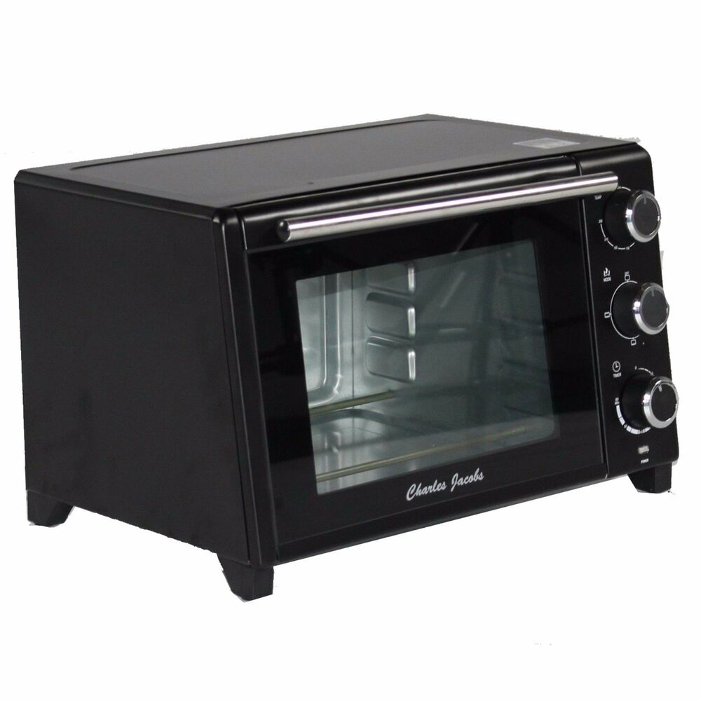 Portable Electric Oven ~ Charles jacobs mini oven electric grill black portable l