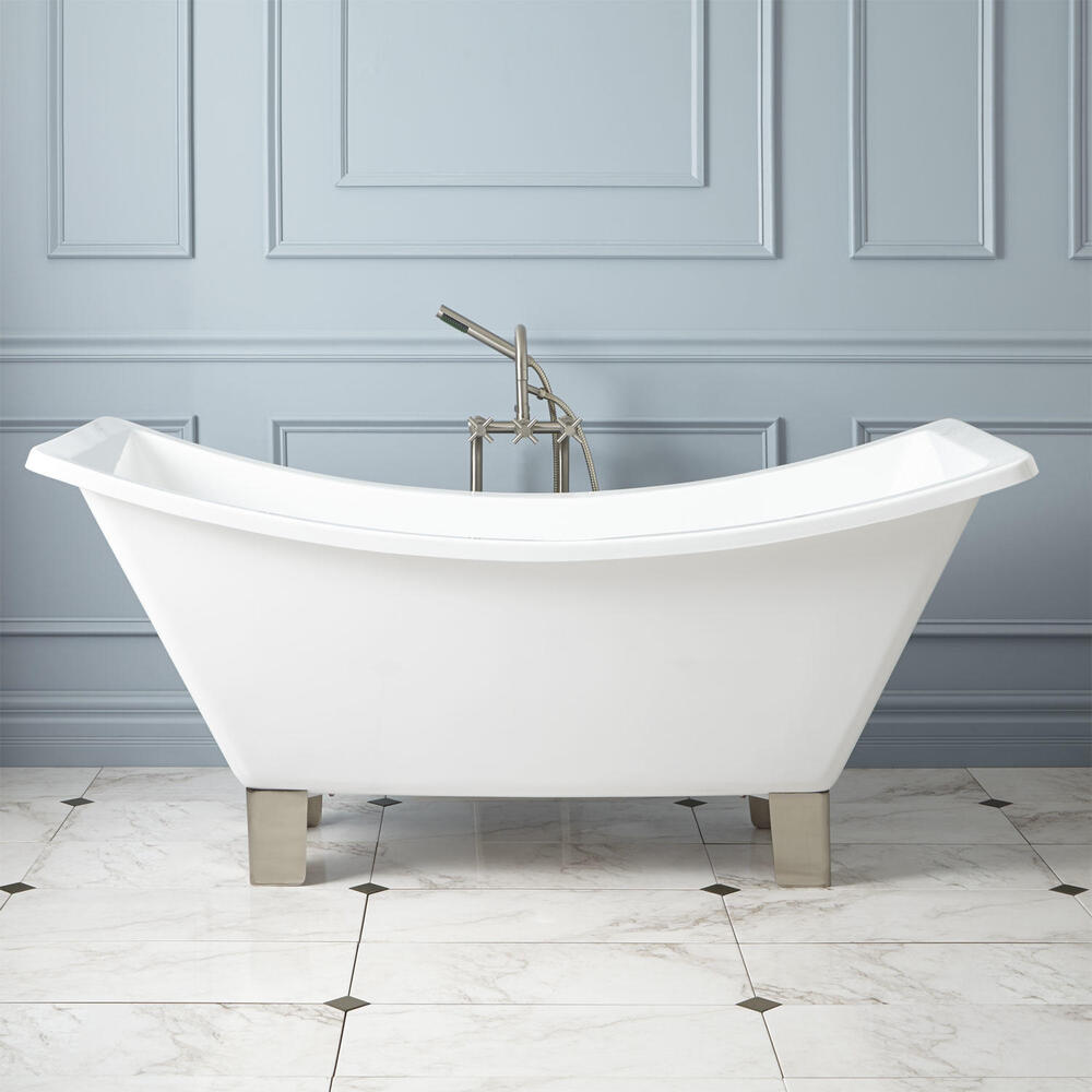hardware 66 catherine acrylic double slipper footed tub ebay