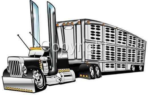 cattle trailer coloring pages - photo#14