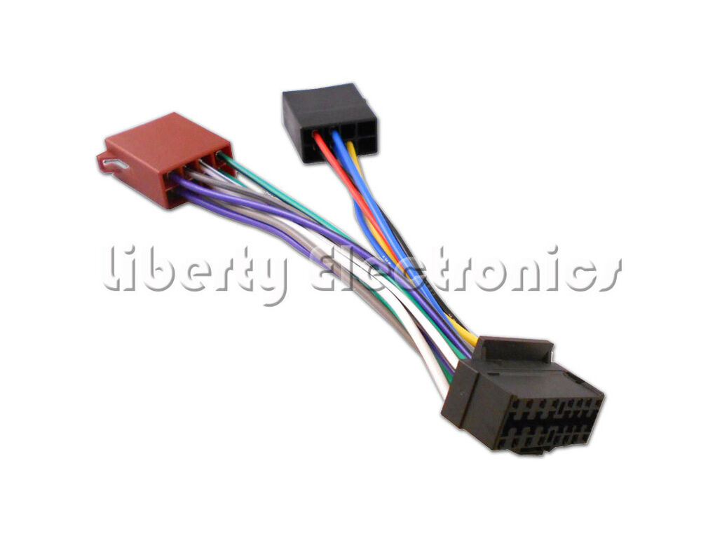 sony car radio stereo 16 pin wiring harness loom iso sony car radio wiring harness sony car stereo wiring diagram