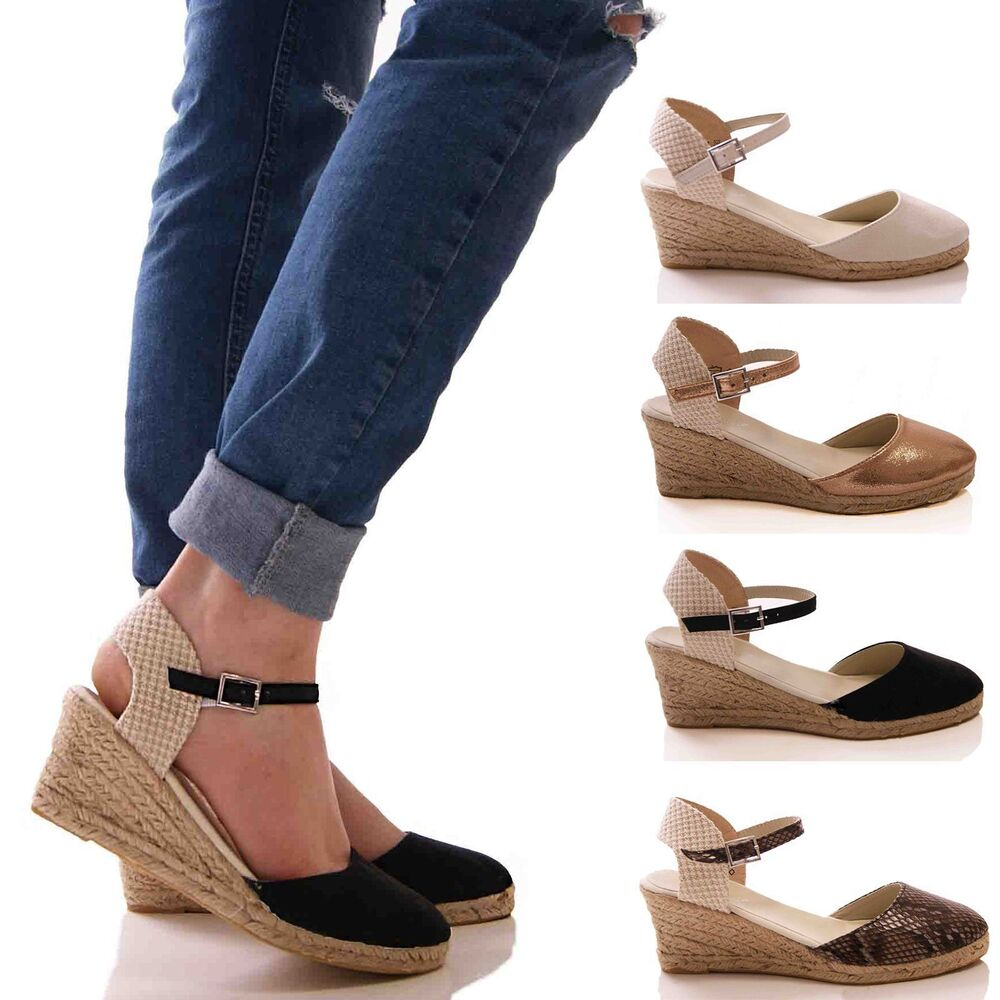 LADIES WOMENS CASUAL SUMMER ESPADRILLES COMFORT HOLIDAY ...
