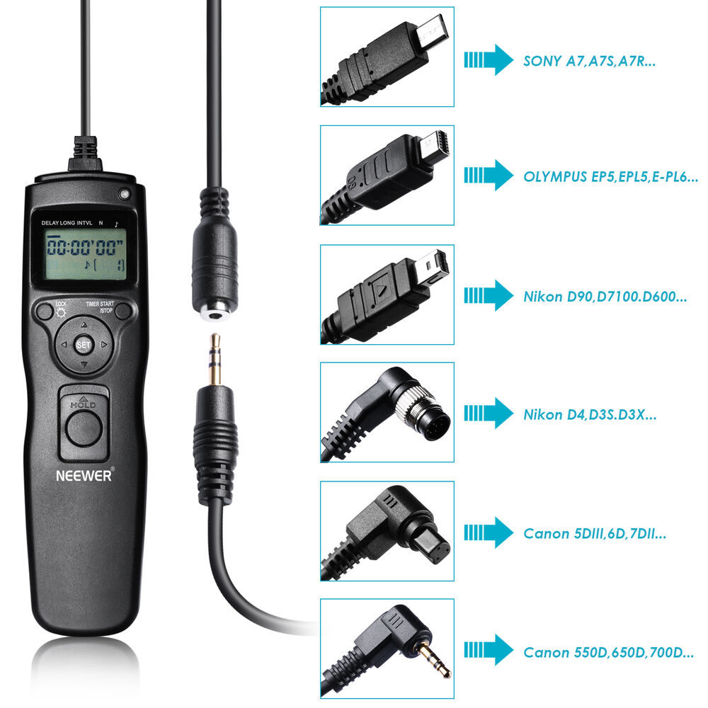 Neewer Lcd Timer Shutter Release Remote For Canon Nikon