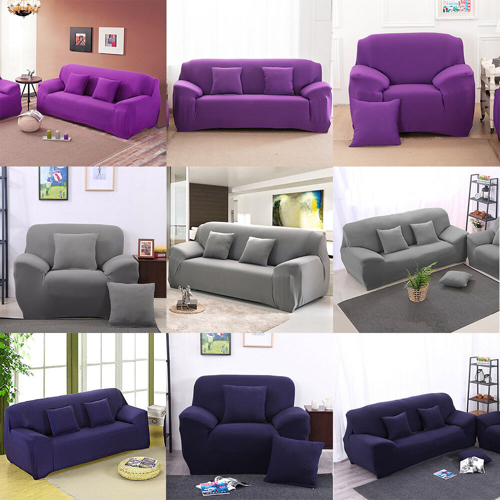 removable 1 2 3 seater stretch elastic fitted sofa lounge couch cover slipcover ebay. Black Bedroom Furniture Sets. Home Design Ideas