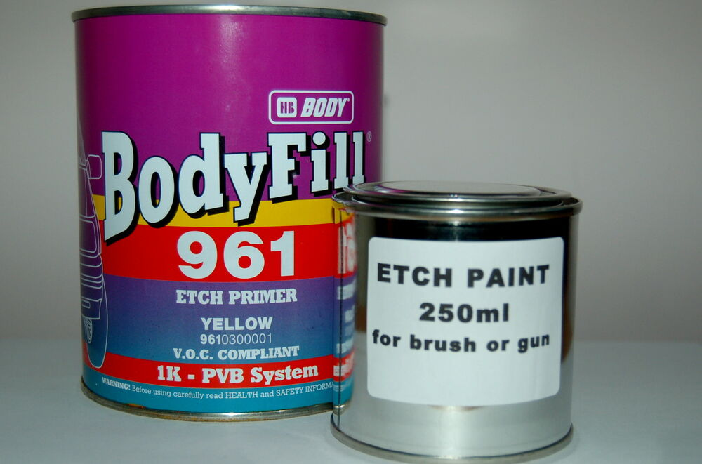 Acid Etch Primer 250ml Galvanised Steel Aluminium Bare Metal