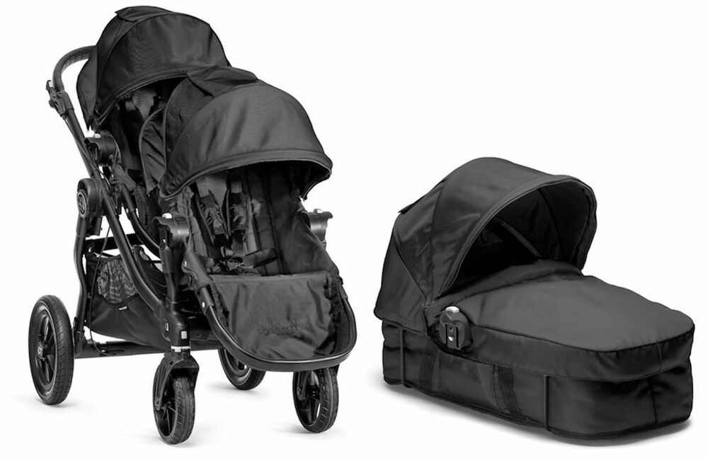 Baby Jogger City Select Twin Double Stroller Black With