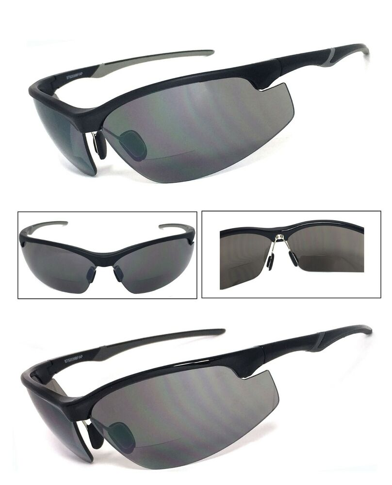 Rimless Bifocal Glasses : Bifocal Sun Reader Reading Sunglasses Half Frame Semi ...