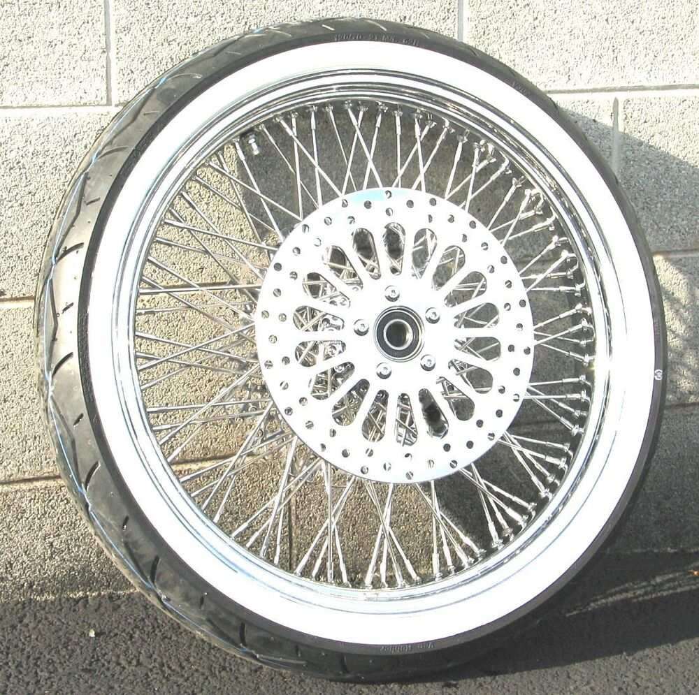 chrome 21 x 3 5 80 spoke front wheel 120 70 tire package 07 2017 harley softail ebay. Black Bedroom Furniture Sets. Home Design Ideas