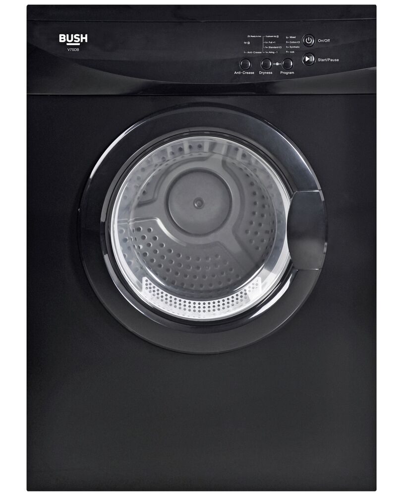 Details About Bush V7SDB Free Standing 7kg Vented Tumble Dryer