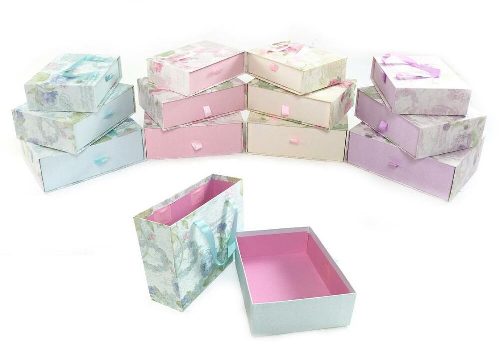 Decorative Cardboard Boxes For Gifts : Decorative floral hard cardboard storage xmas birthday