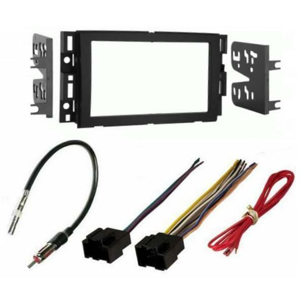 Radio car stereo double din dash installation kit wire