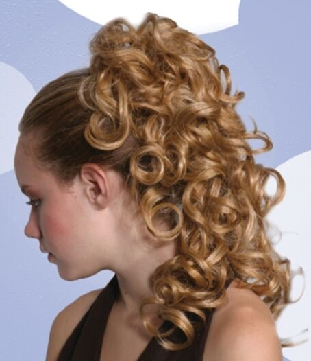 Long Big Loose Curls Curly Hair Ponytail Hairpiece
