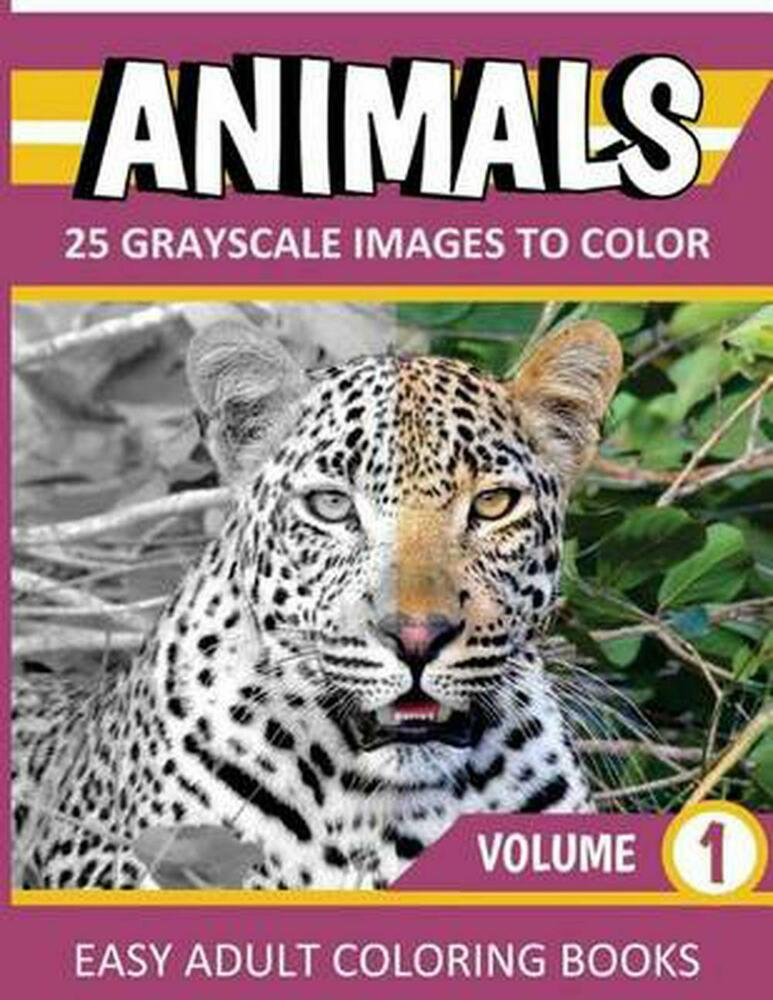 animals grayscale coloring book new animals grayscale coloring books vol 1 easy adult