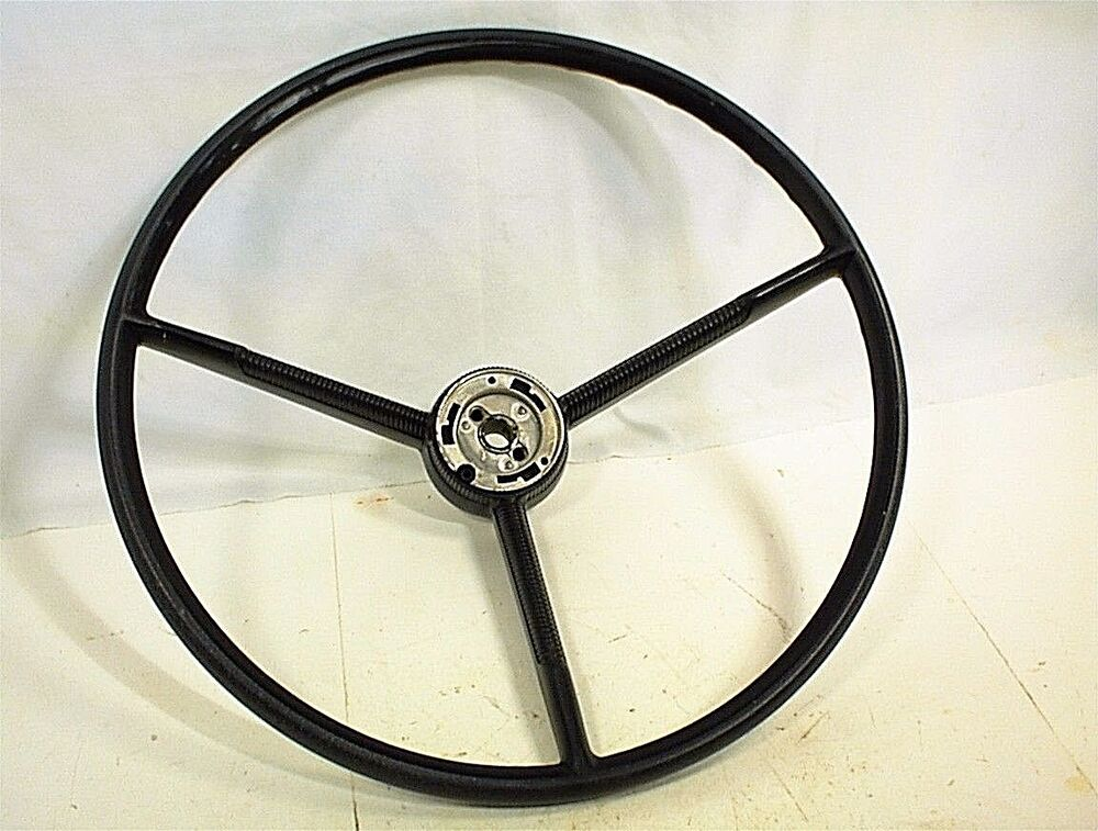 vintage 1960 ford falcon steering wheel black ebay. Black Bedroom Furniture Sets. Home Design Ideas