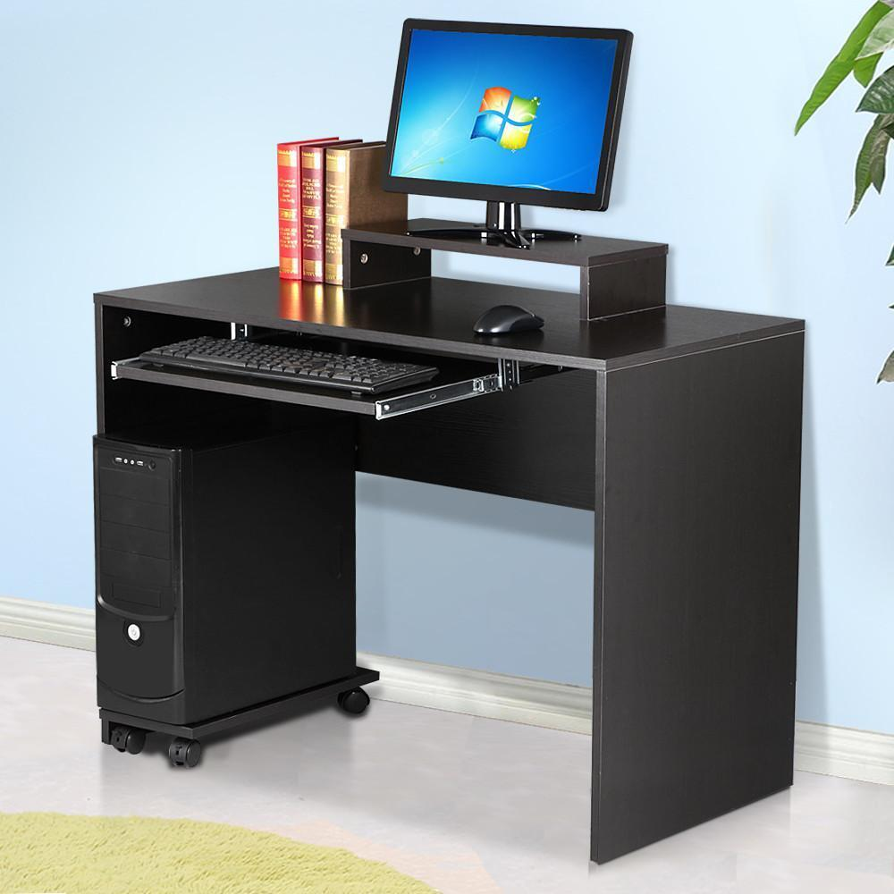 Modern computer pc home furniture office study workstation for Home office workstation desk