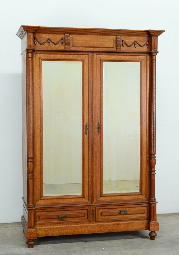 348-1 : Antique French Oak Renaissance Style 2 Door ...