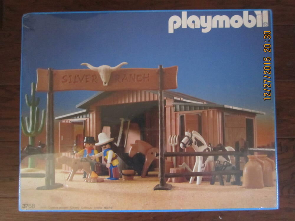 Trucks And Toys >> 1987 playmobil 3768 Western Silver Ranch Barn still in the ...