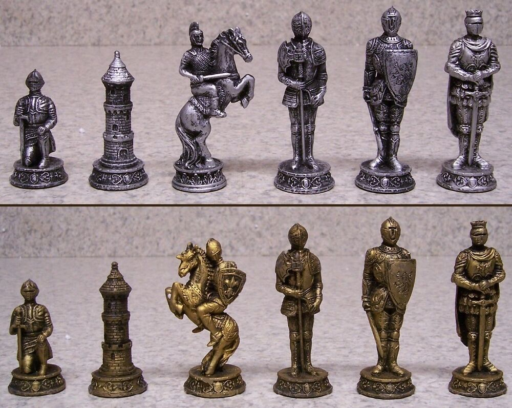 Chess set with glass board medieval knights in armor new 3 Where can i buy a chess game