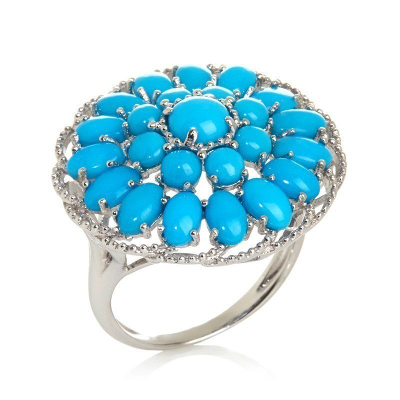 HERITAGE GEMS SLEEPING BEAUTY STERLING SILVER TURQUOISE ...