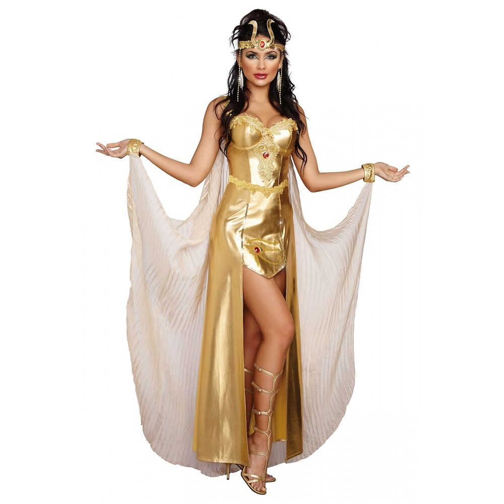 Egyptian Goddess Costume Adult Cleopatra Halloween Fancy ...