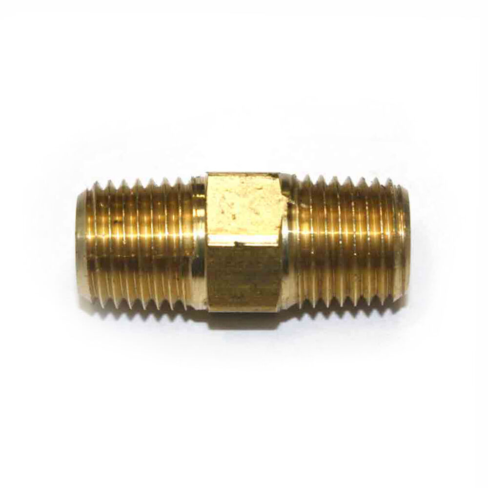 Quot npt thread machined male brass hex nipple pipe