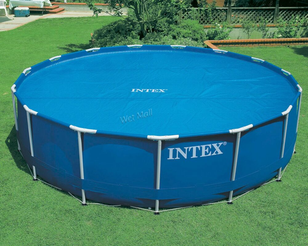 Intex 12 39 swimming pool solar heating cover blanket for for On ground pools