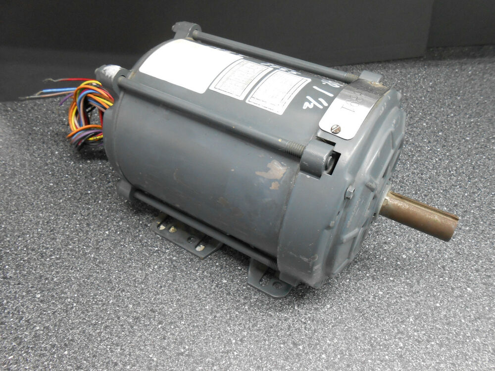 General electric 5k43pg8095ev 1 1 2 hp electric motor 145t for 1 2 hp ac motor