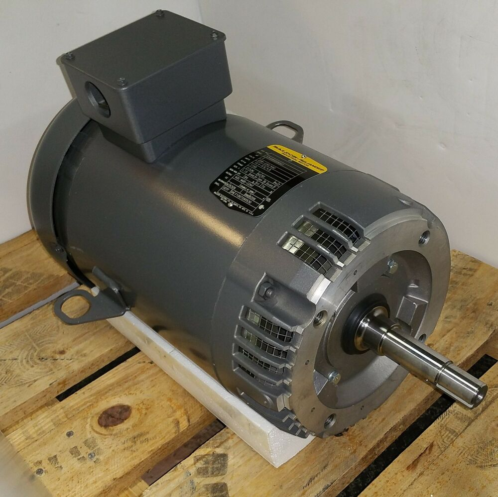 Baldor 3 hp 1200 rpm odp 208 230 460 volts 213jm 3 phase for 3 phase 3hp motor
