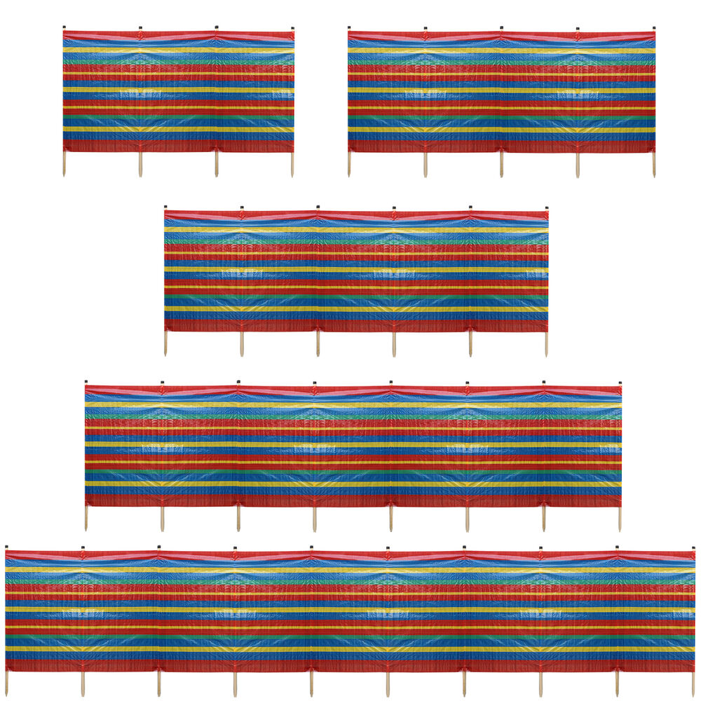 4 10 pole windbreak beach holiday camping garden wind for Garden windbreak designs