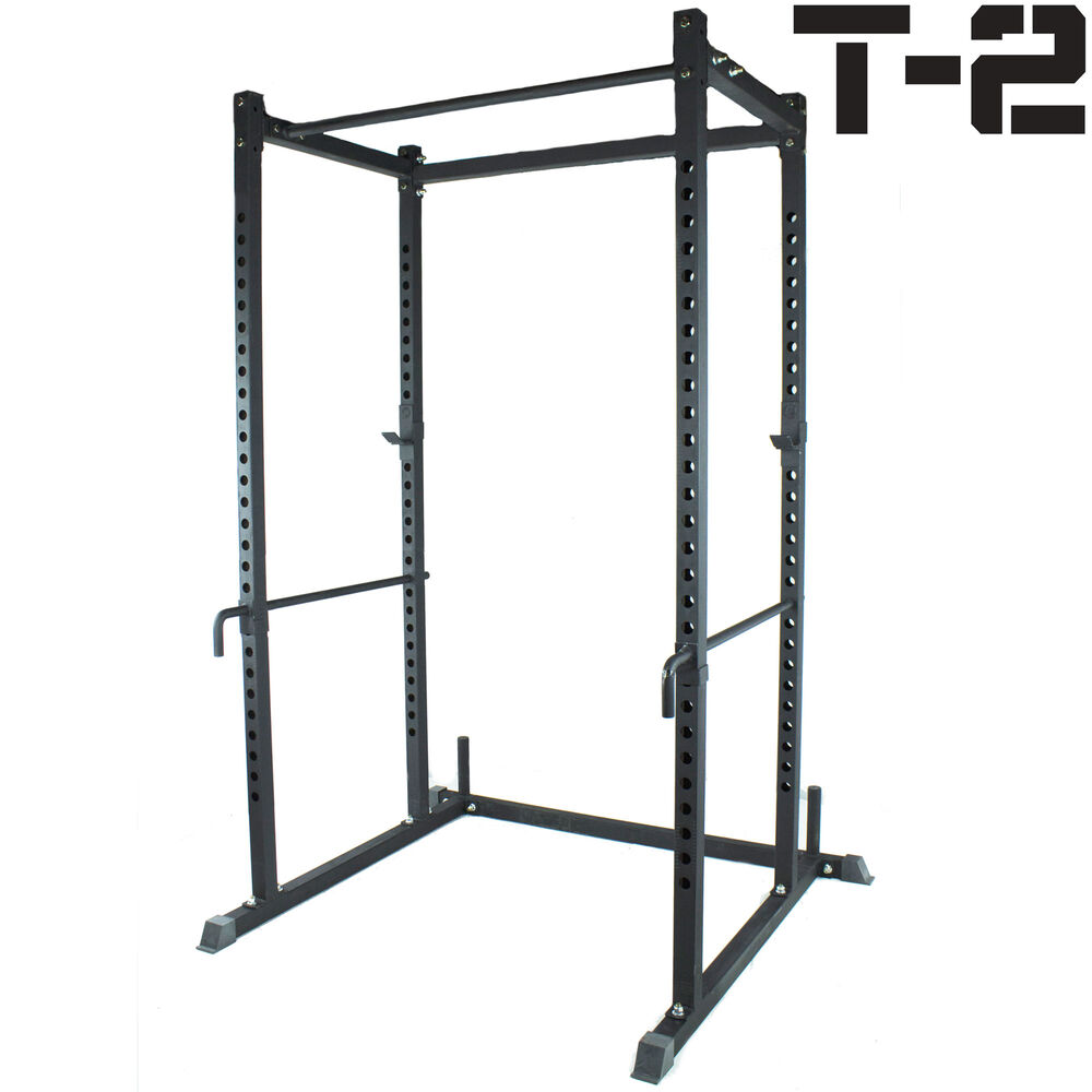 Titan T 2 Series Power Rack Lift Cage Bench Rack Squat Deadlift Stand Cross Fit Ebay