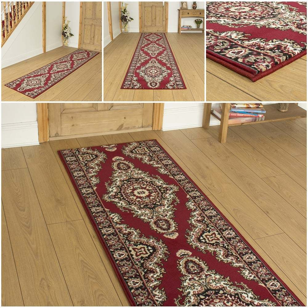 turkesh red hallway carpet runner rug mat for hall extra very long cheap new ebay. Black Bedroom Furniture Sets. Home Design Ideas