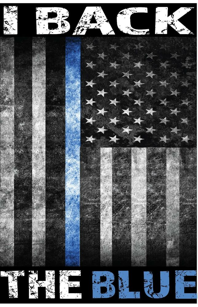 I Back The Police Blue Line American Flag Sublimated T