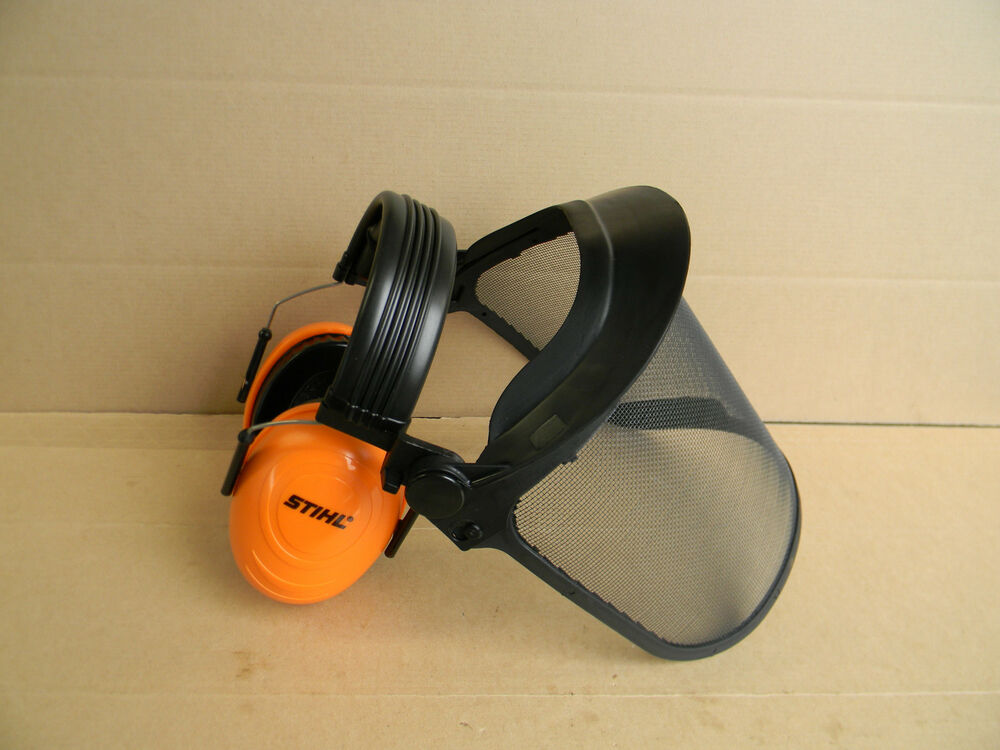 Stihl trimmer brush shield protector face shield ear for Portent item protection