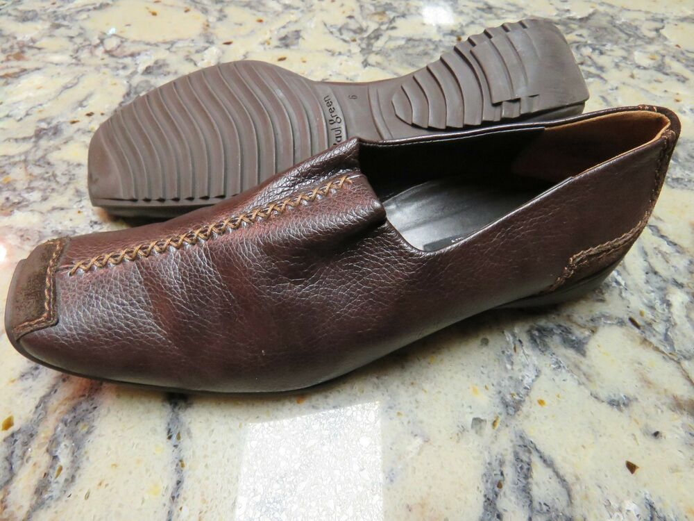 paul green munchen lucy brown leather driving loafers shoes women 39 s uk 6 us 8 5 ebay. Black Bedroom Furniture Sets. Home Design Ideas