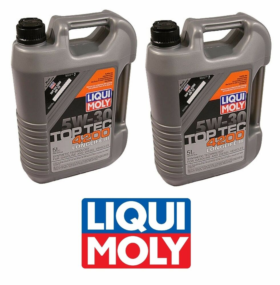 10 liters liqui moly top tec 4200 5w30 synthetic engine. Black Bedroom Furniture Sets. Home Design Ideas