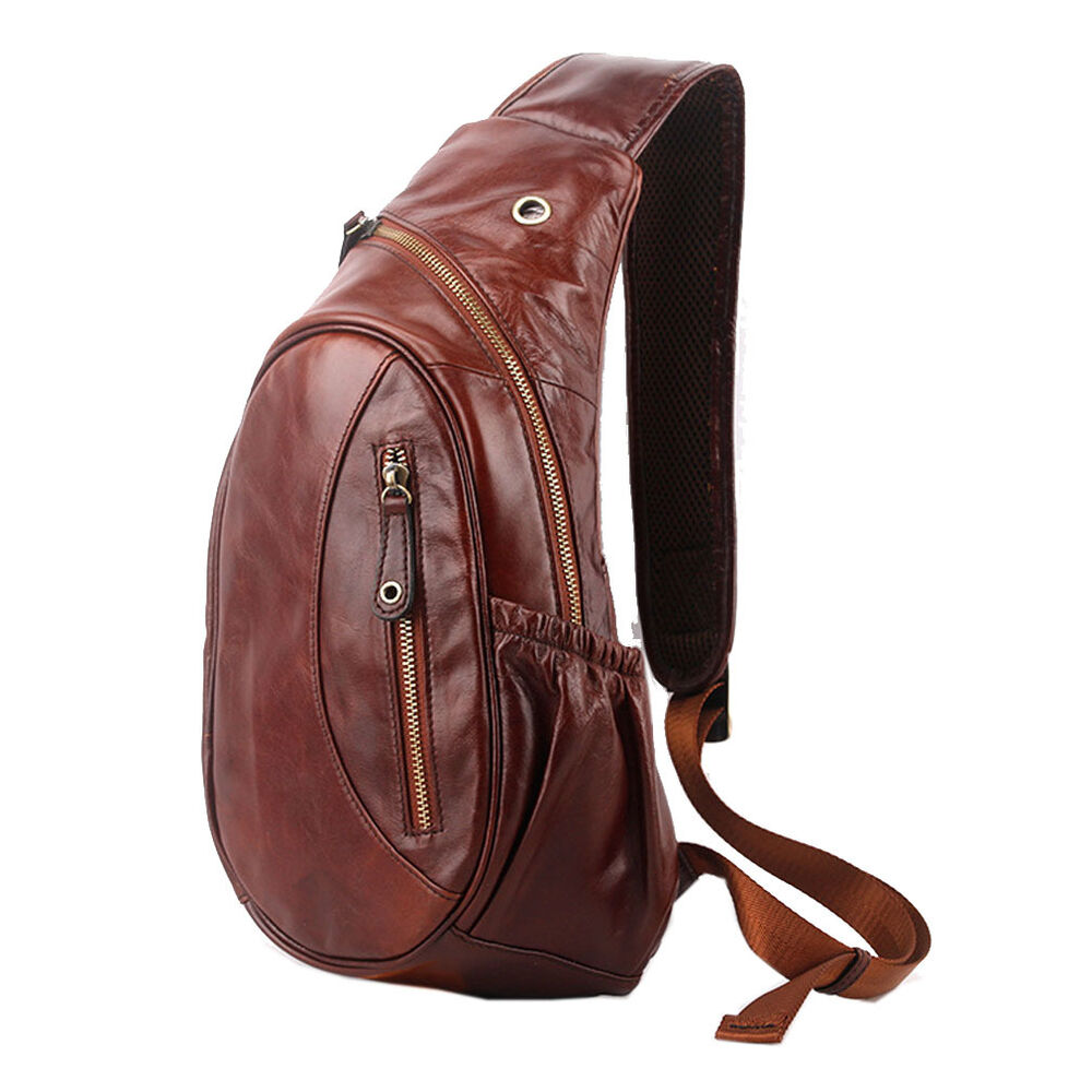 Leather Backpacks Bags Briefcases For Men Ebay