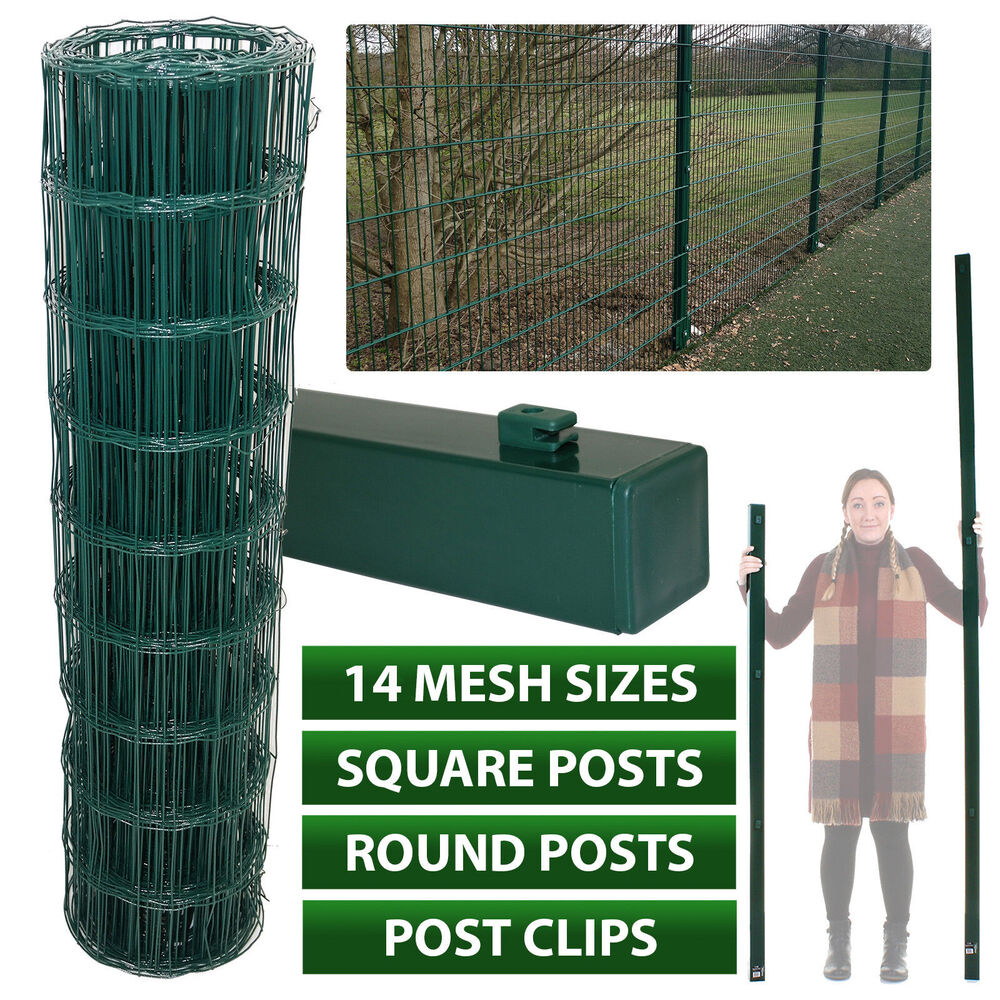 Pvc Green Coated Garden Mesh Wire Fence Fencing 0 6 0 9 1
