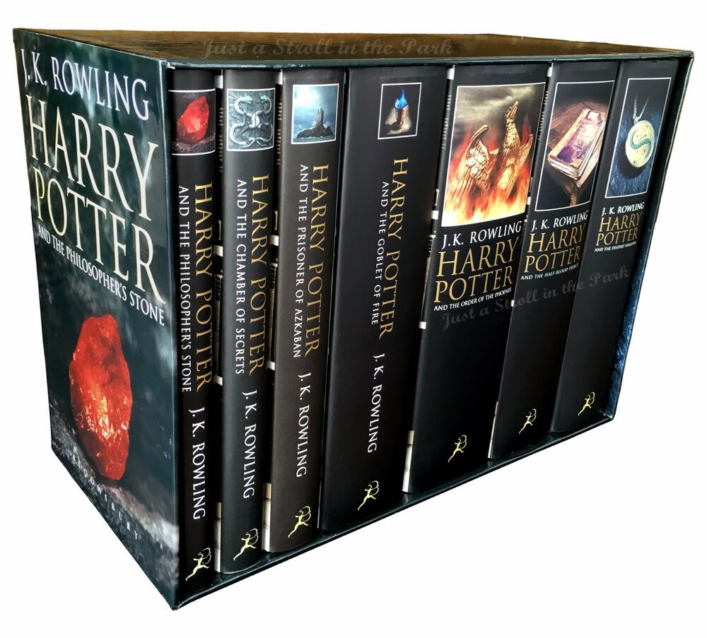 Harry Potter Book Gift Set ~ Harry potter complete series uk adult edition hardcover