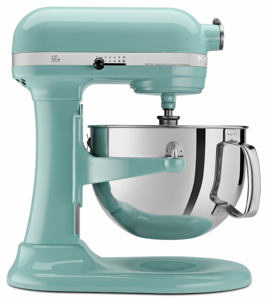 Kitchenaid 600 Super Capacity 6 Quart Pro Stand Mixer Kp26m1xaq Aqua Sky Blue